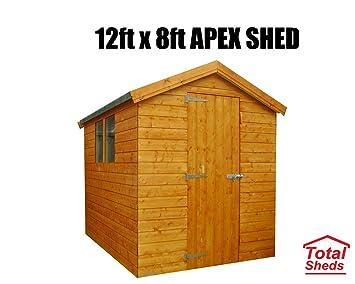Cobertizo de madera para cobertizo de jardín Apex de 3,6 m x 2,4