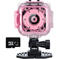Ourlife Kids Waterproof Camera Video Recorder Includes 8GB Memory Card (Pink)