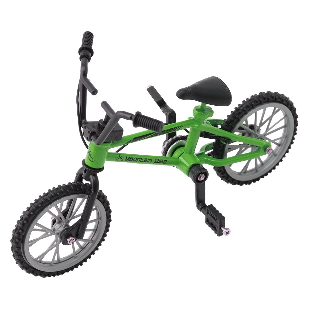 NNDA CO 1PC Finger Alloy Bicycle Model Mini MTB BMX Fixie Bike Toy - Kids Christmas Gifts(Green)