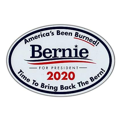 amazon com oval magnet bernie sanders president 2020 bring back