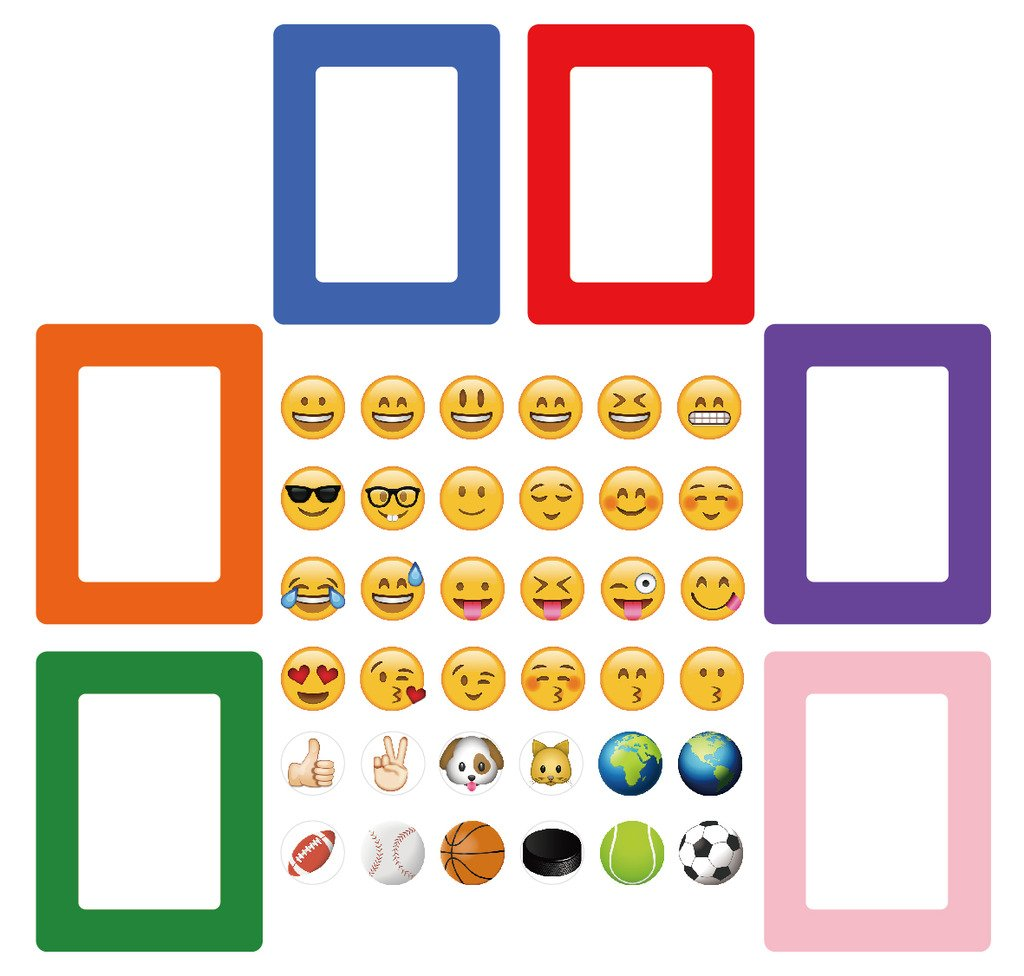 Amazon.com - 42-in-1 Emoji Magnetic Picture Frames for Refrigerator ...