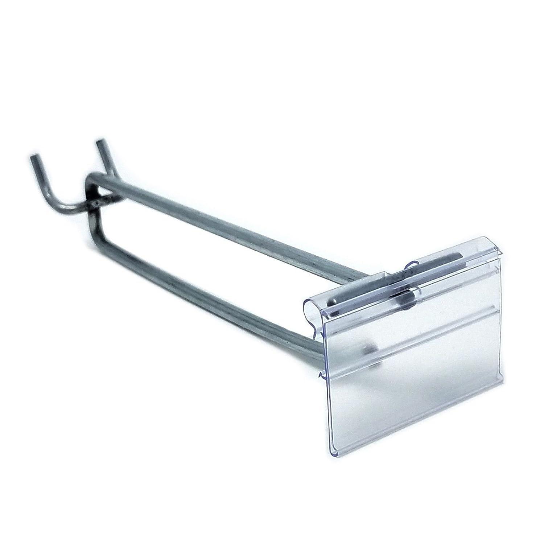 20 Pack 6 Pegboard Flip up Scanner Hooks w// 2.5 L X 1.25 H Scanner Plates Zinc
