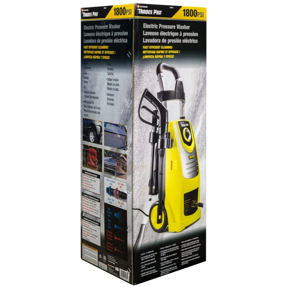 Amazon.com: Tradespro 830271 Trades Pro 1800 PSI Electric Pressure Washer: Home Improvement