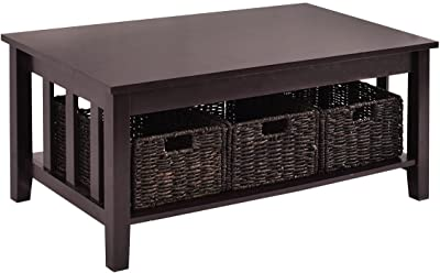 Amazon Com Winsome Morris Coffee Table With 3 Foldable