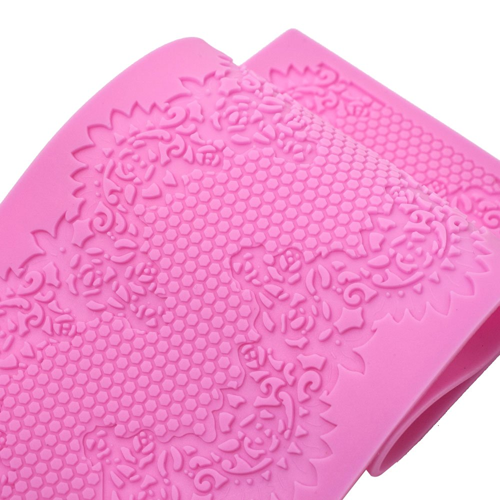 Fondant Sugar Gumpaste Silicone Mold for Cake Decorating and Sugarcraft (Sweet Lace Mat)
