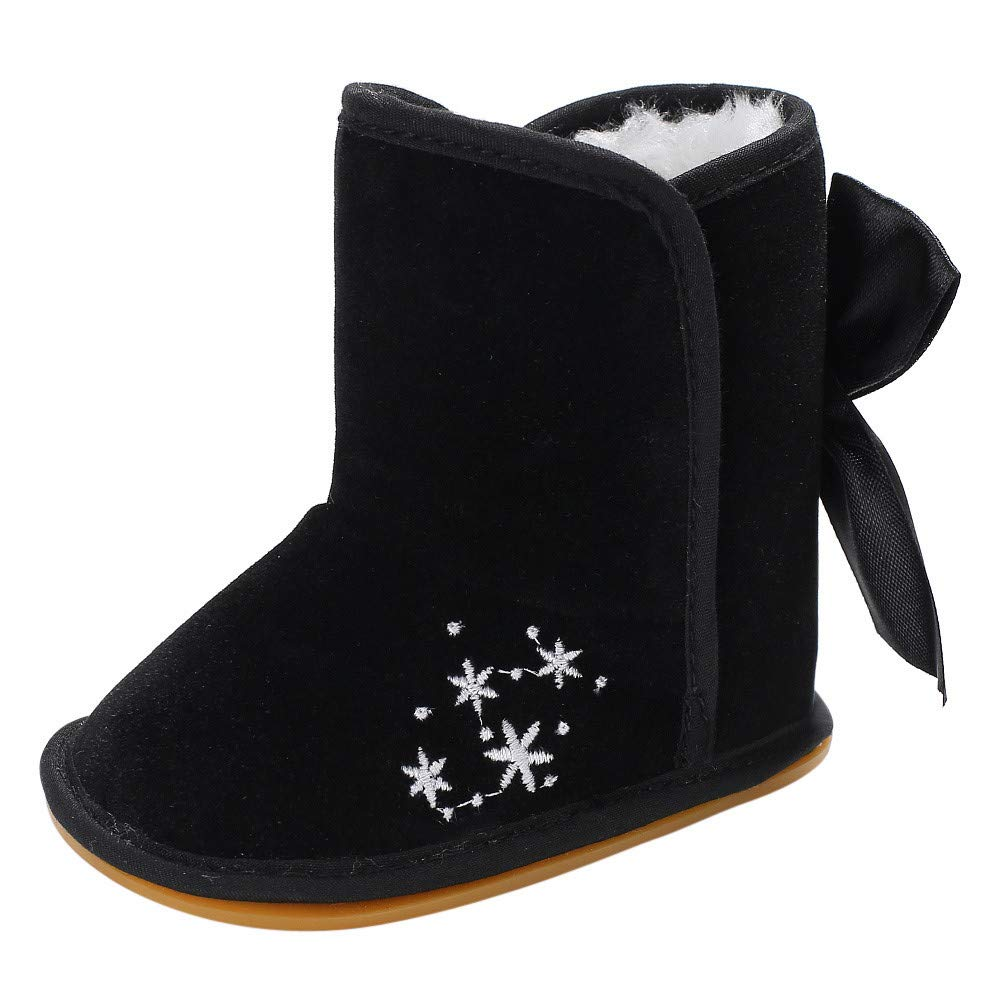 Lanhui Toddler Girl Boys Newborn Anti-Slip Warm Sole Baby Snow Boot Shoes