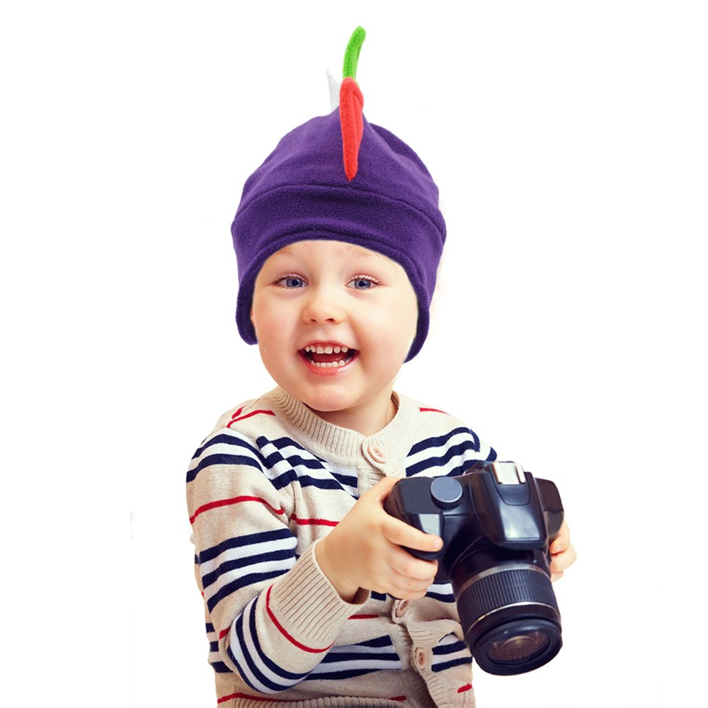 aba59d386a3 Amazon.com  Funkeet Kids Dinosaur Hats Rainbow Dgragon Spikes Hat Fun Party  Costume Cap Winter Beanie for Child  Clothing