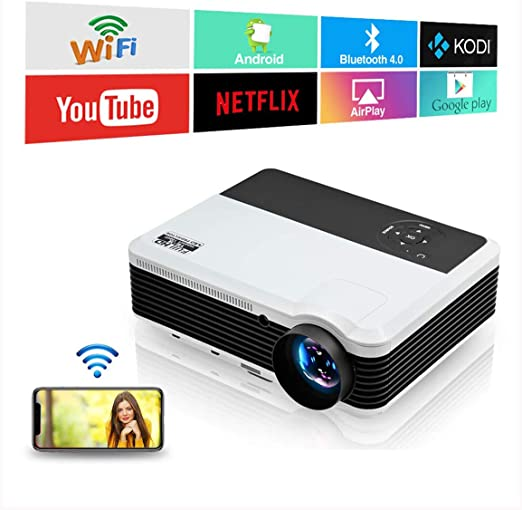 Proyector inalámbrico Bluetooth 8600 Lumen 1080P LED LCD Home ...
