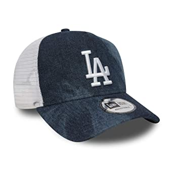 a1420b65 New Era MLB Tie Dye AFrame Trucker Cap (Navy - LA Dodgers): Amazon ...