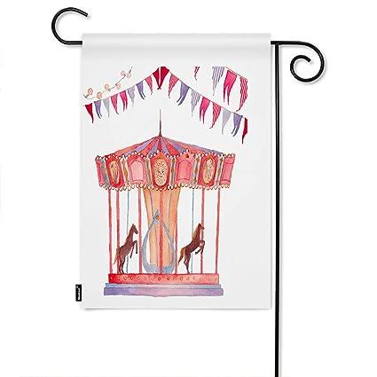 Amazon.com: Moslion Floral Bandera de jardín vintage ...