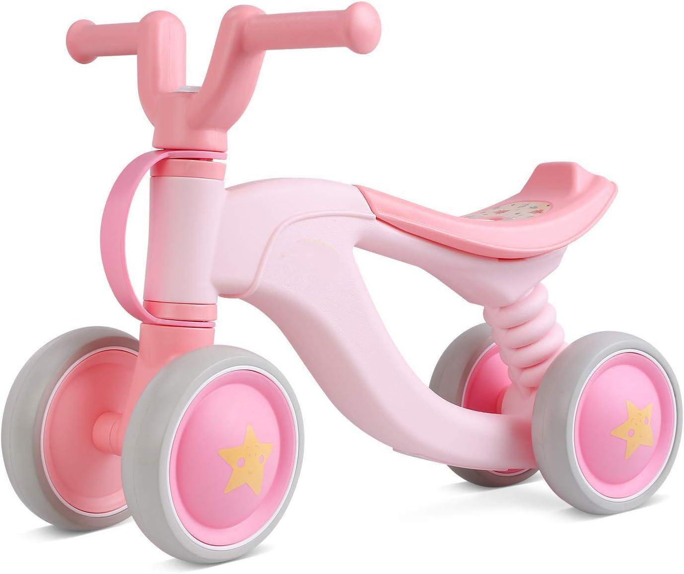 Framy Baby Balance Bike, Ride on Bikes, Bicicleta para Niños, Bicicleta Deslizante De 4 Ruedas, Caminante para Niños Pequeños Sin Pedal Baby Car Ride on Toy para Niños De 1-3 Años