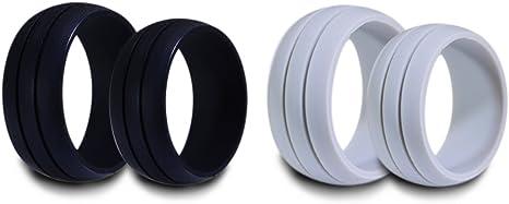 UU joya para hombre anillos de boda de silicona para deportes ...