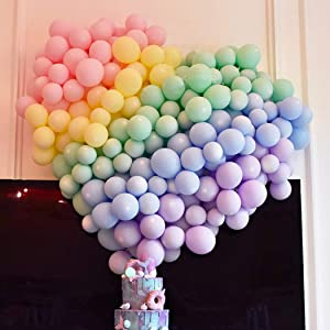 5 Inch Mini Pastel Latex Balloons 200pcs Assorted Macaron Candy Colored Latex Party Balloons for Wedding Birthday Baby Shower Party Decor Supplies Arch Balloon Tower Balloon Garland