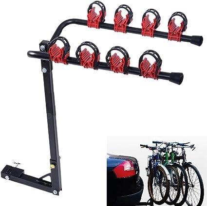 WVIVW Porta Biciclette Auto Posteriore 4 Posti Universale
