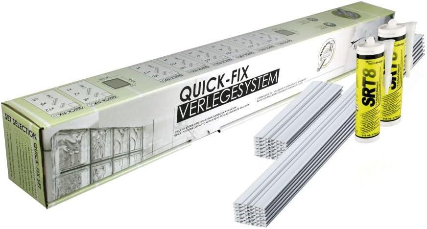 QUICK-FIX sistema para la colocación para 10 bloques de vidrio ...