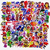 Laptop stickers(100pcs),Superheros Laptop Stickers for Water Bottles,Vinyl Stickers for Laptop Skateboard Luggage Decal Graffiti Patches Stickers in Bulk (100PCS)