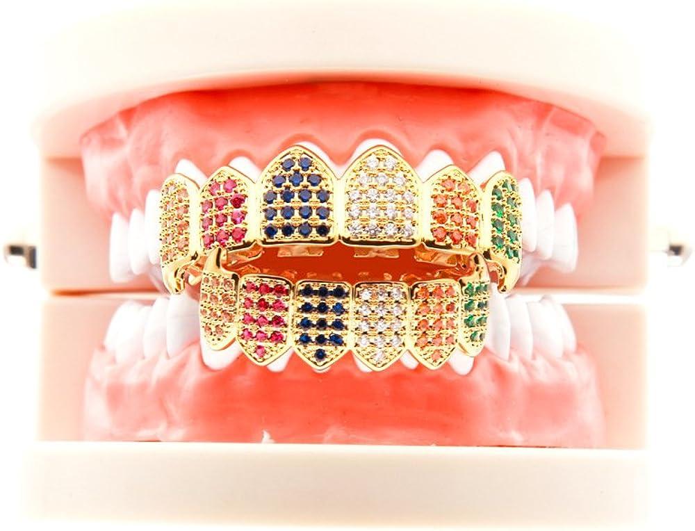 Avec des cristaux color/és Id/ée cadeau pour hommes et pour femmes Mcsays Ensemble de caches pour dents de style hip-hop Bling-bling