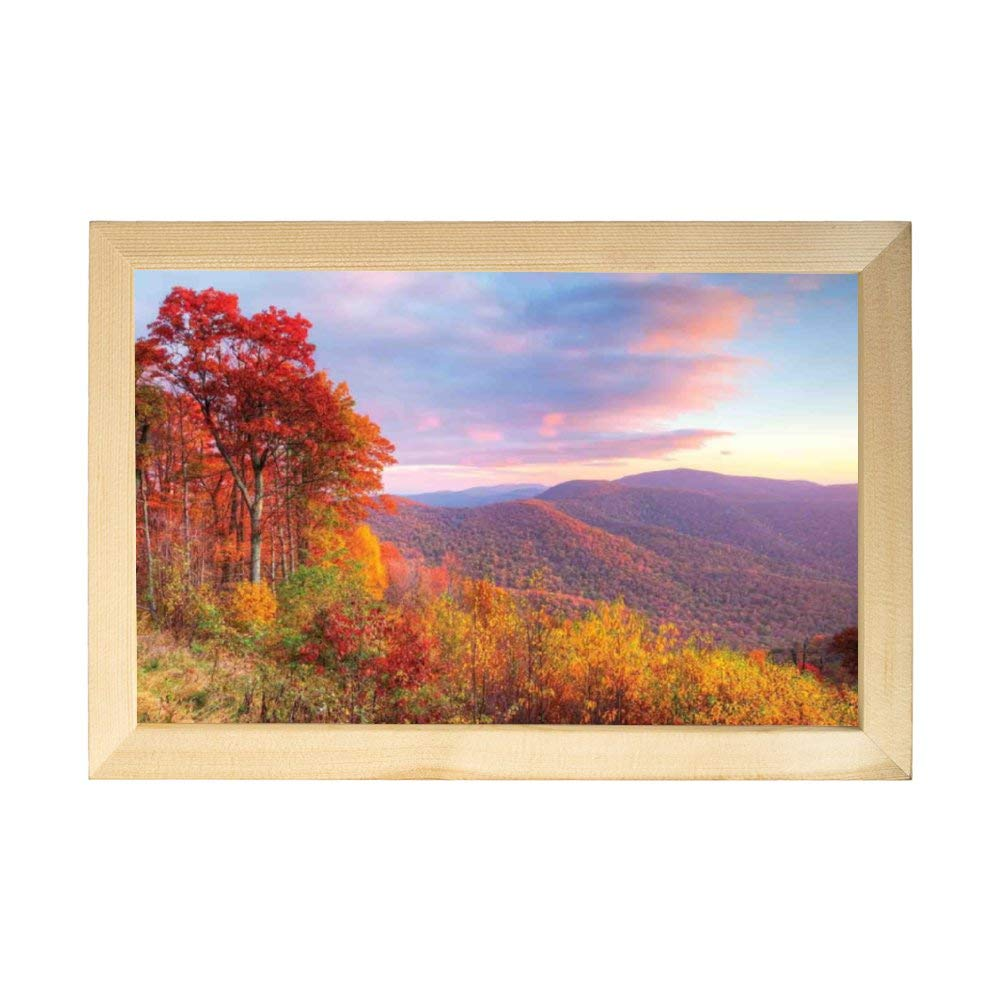Mike Kathleen Painting Decor Mountain,Sunrise Stunning Sky Colors Autumn Falls at South Western Village Scenery Room Decoration Painting by Mike Kathleen