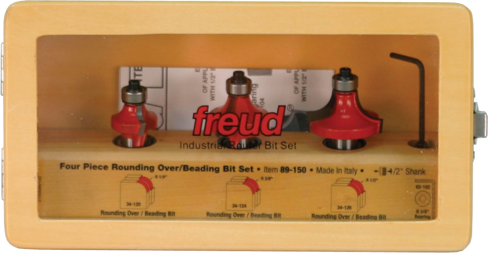 Freud 89-150 1/2-Inch Shank Round Over/Beading