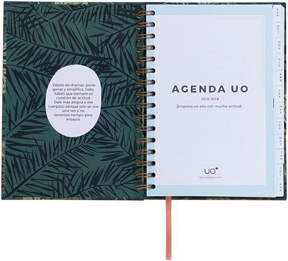 UO AG189PD1 - Agenda 2018-2019 semana vista, diseño Paradise: Amazon.es: Oficina y papelería