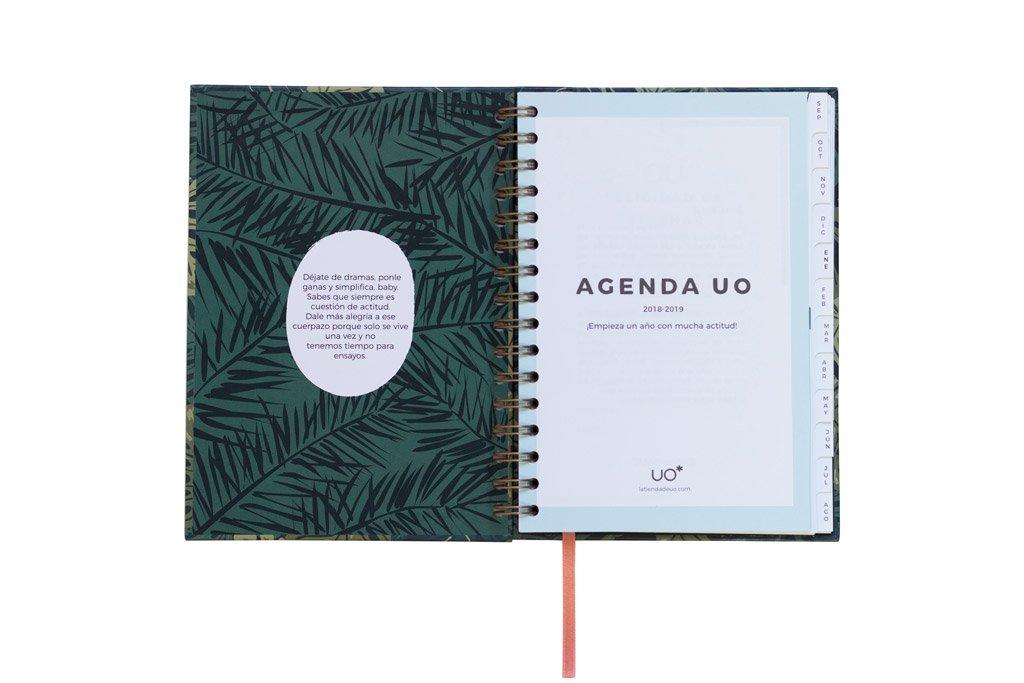 UO AG189PD1 - Agenda 2018-2019 semana vista, diseño Paradise