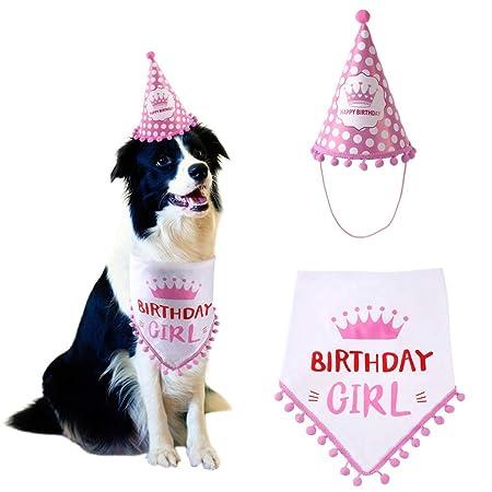 lilingfine pañuelos de Felices cumpleaños para Perros y Gatos con ...