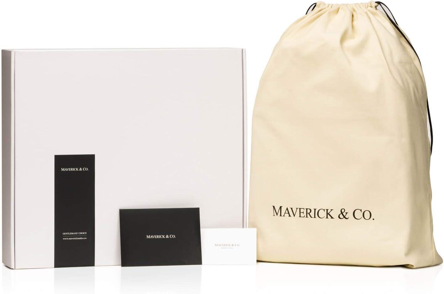 Black Alpha Leather-Trimmed Briefcase Maverick /& Co