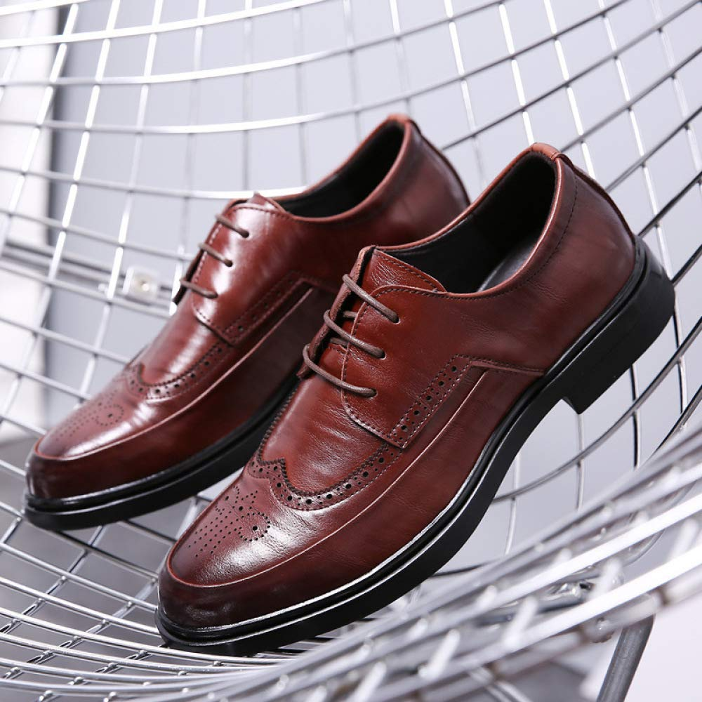 XINGF XINGF XINGF Herren-Bullock-Schuhe, Schwarze Casual-Business-Schuhe, Runde Retro-Werkzeugschuhe, Schnürschuhe Für Herren e8cea9