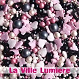 Natural Color La Ville Lumiere GMO, SOY, GLUTEN, DAIRY & NUTS free cake decorations cupcake toppers