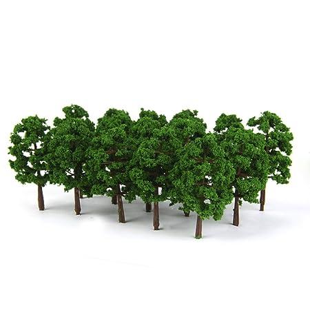 Kingwin 3pcs 1:50 Micro Green Tree Model Building Scenery Landscape 10cm