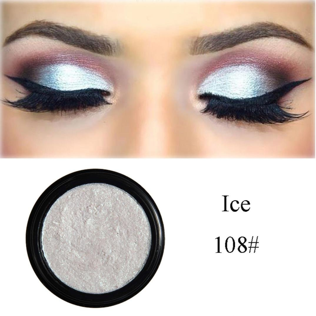 D-XinXin 1Colors Monochrome Eye Shadow of Mashed Potato,Glitter Shimmering Colors Eyeshadow Metallic Eye Cosmetic (H)