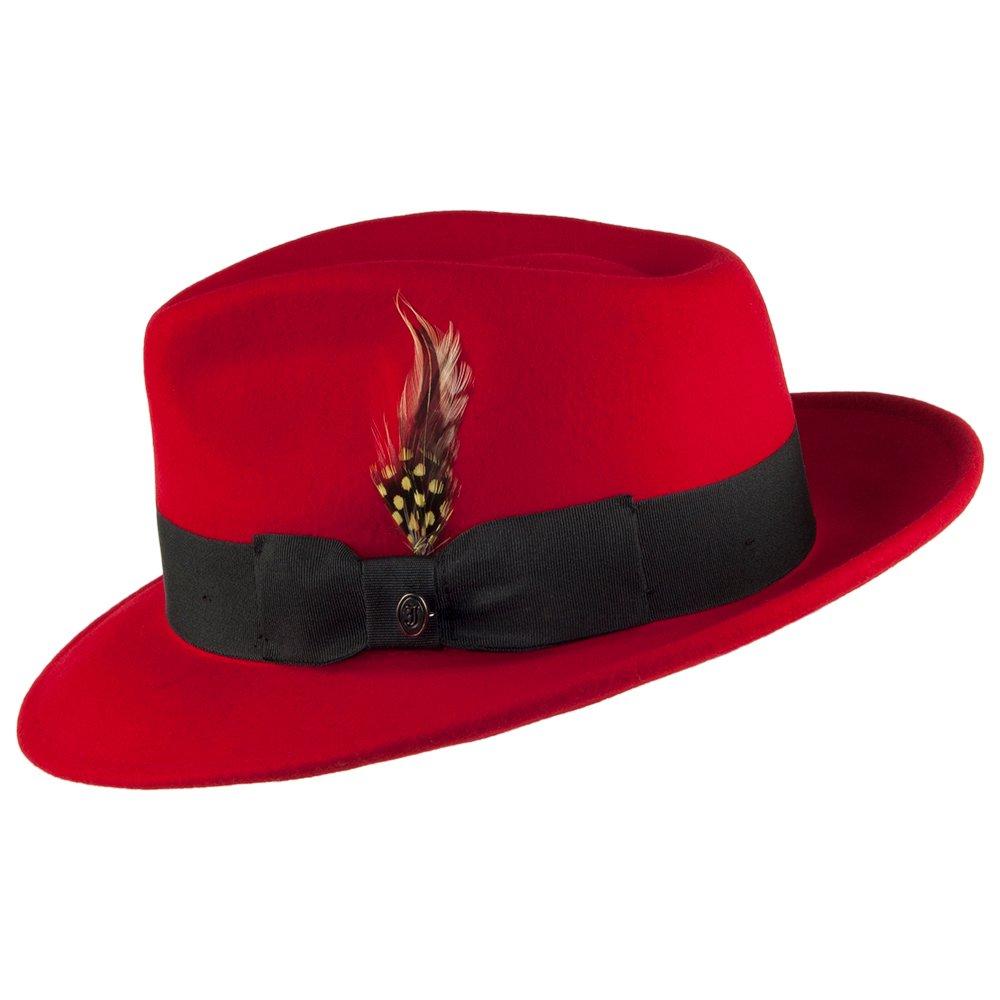 0ca8dd2c09f Jaxon   James Pachuco Crushable C-Crown Fedora - Red  Amazon.co.uk  Clothing