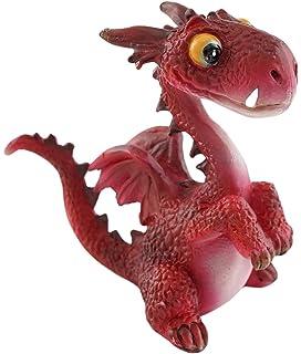 top collection miniature fairy garden and terrarium mini dragon statue red