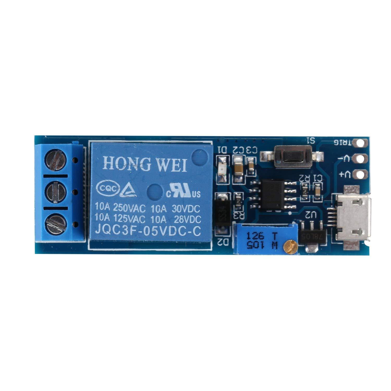TOOGOO(R) Wide voltage 5V-30V trigger delay relay module, timer module, time delay switch by TOOGOO(R) (Image #4)