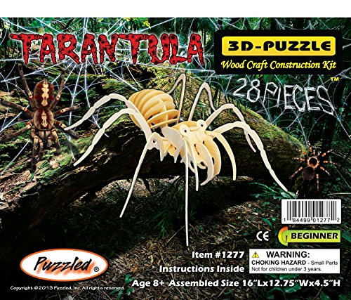 Diy 3d Wooden Puzzle Model Spider 30 Pieces Home/office Decoration