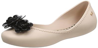 Zaxy Damen Start Blossom Ballerinas, Black (Black Contrast), 38 EU