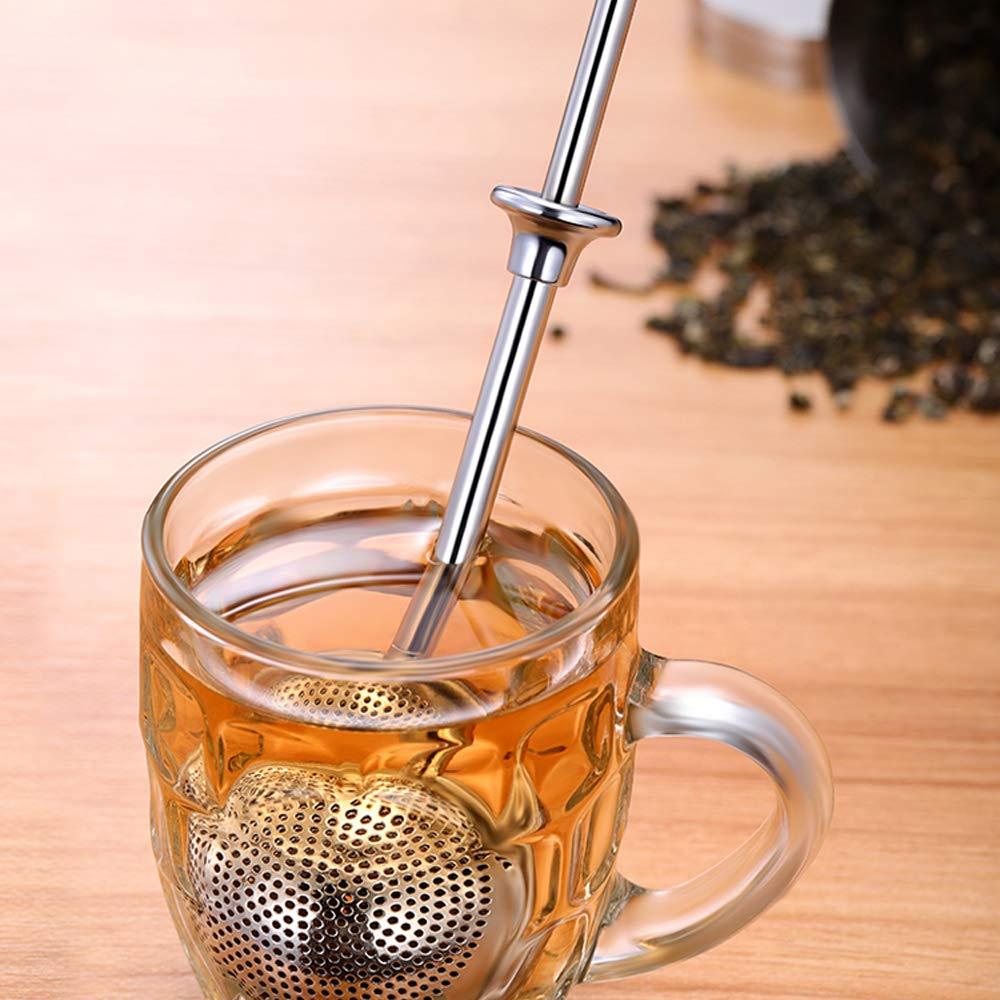 Tea Ball Strainer Infuser Spices Stainless Steel Tea Infuser Filters Tea Interval Diffuser for Loose Leaf Premium Tea Strainer 2 Pack Tea Steeper Set Seasonings Choppie Tea Balls for Loose Tea