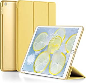 iPad 2017 / 2018 Case 9.7 by GUDOU,Ultrathin Lightweight Smart Cover with Auto Sleep/Wake, Hard Back Cover with Soft TPU Bumper for Apple iPad 9.7inch 5th / 6th Gen (Yellow)