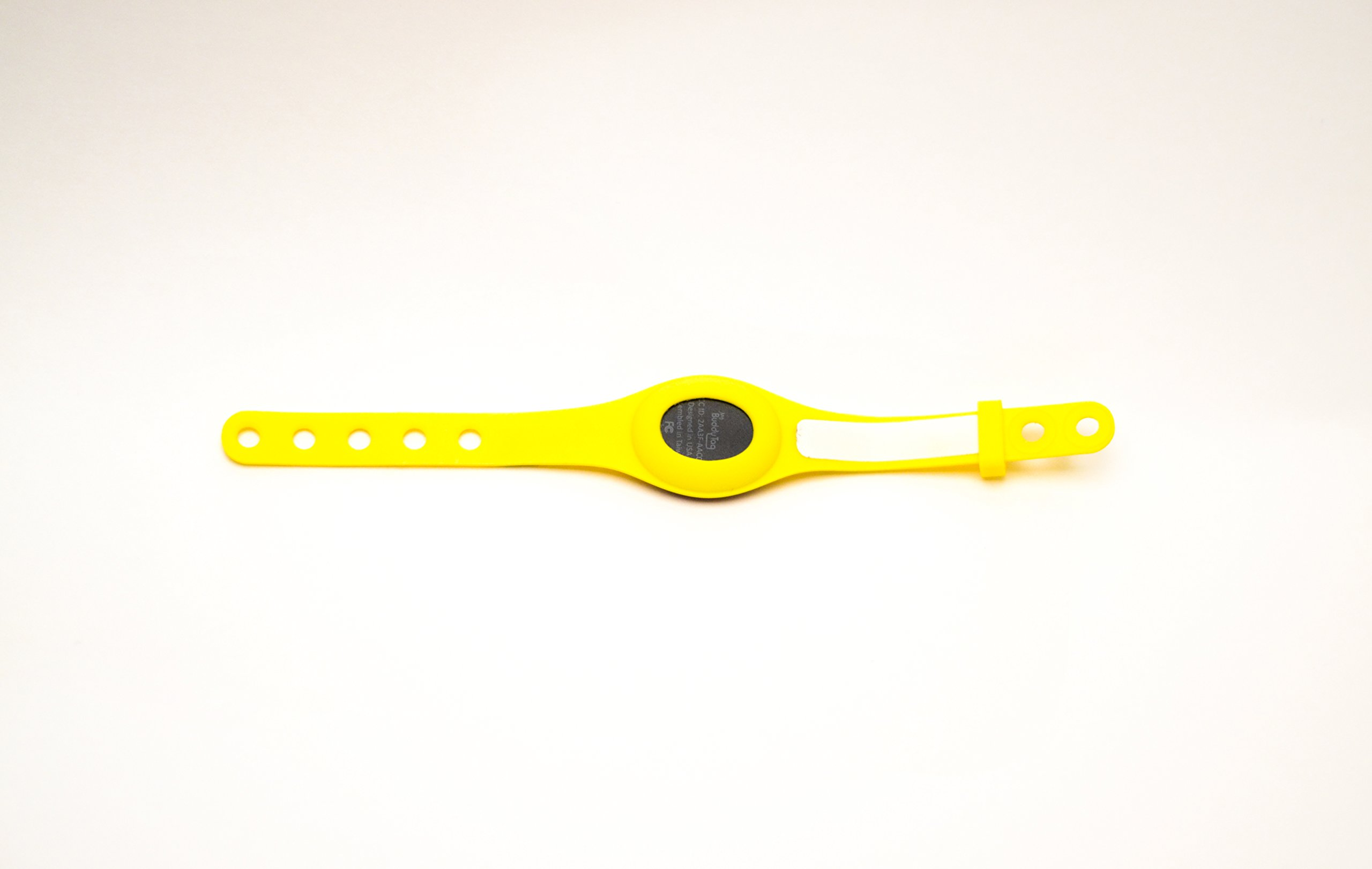 My Buddy Tag with Silicone Wristband, Yellow by My Buddy Tag (Image #2)