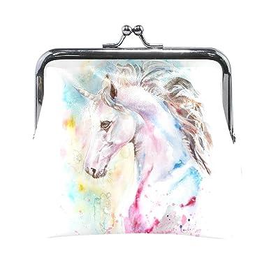 Amazon.com: Monedero de unicornio acuarela arco iris para ...