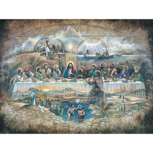 0 Piece Jigsaw Puzzle for Adults - Last Supper - 500 pc Religious Jigsaw by Artist Ruane Manning ()