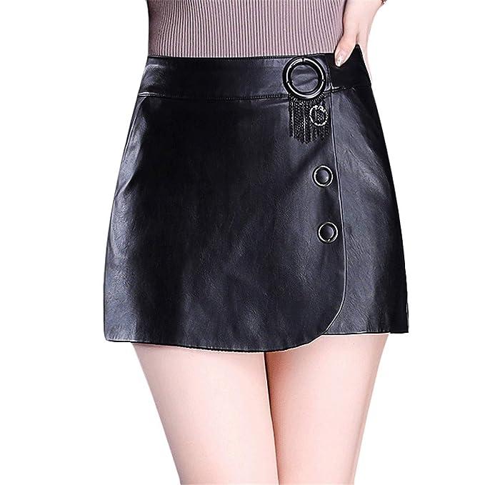 Skitor Mujer Bonitos Falda Sexy Elegante Falda-Pantalón Lápiz Business Skirt Cuero Sencillos Falda Lápiz Push Up Fino Faldas Cortas: Amazon.es: Ropa y ...