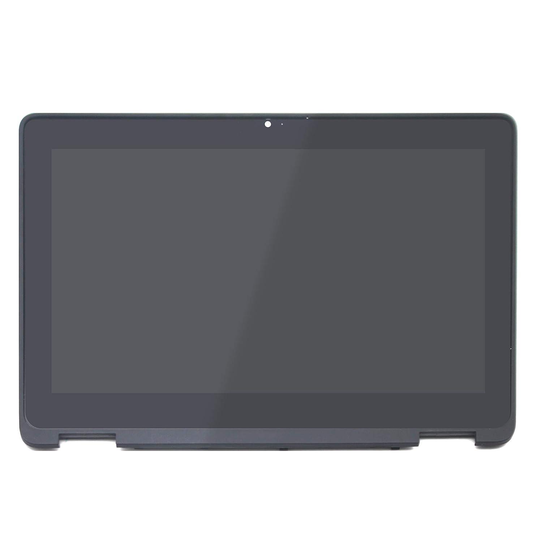 FTDLCD® 11.6 Inch 2-in-1 HD+ LCD Pantanlla Táctil Digitalizador Asamblea con Marco Reemplazo de Portátil Ordenador NV116WHM-T11 para DELL Chromebook 5190 ...