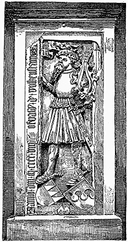 Oswald Von Wolkenstein N(C1377-1445) German Lyric Poet And Adventurer Line Engraving 19Th Century After A Marble Tomb Relief Poster Print by (24 x 36)