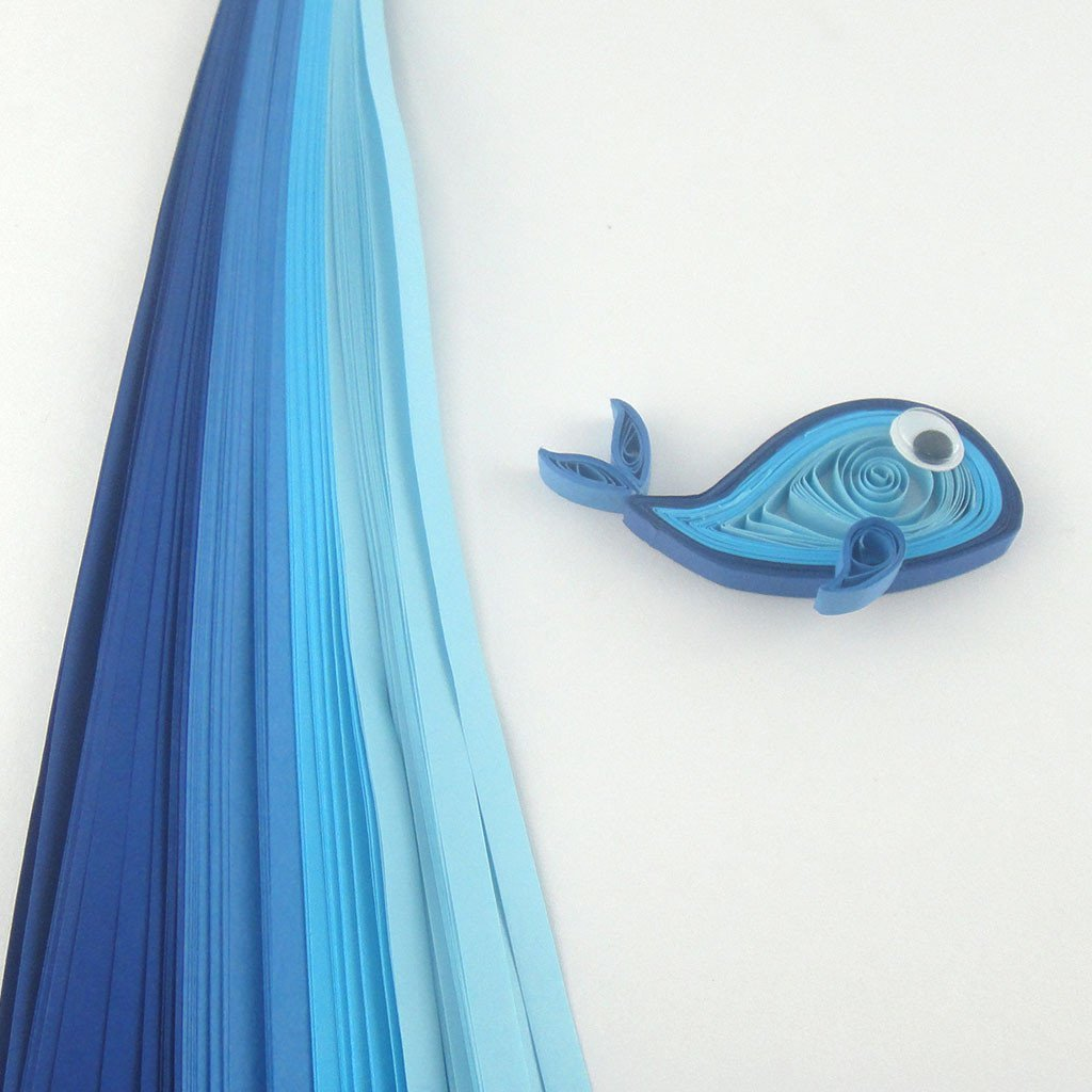 Tones of Blue - 5 mm - 100 Quilling Strips By The Buy