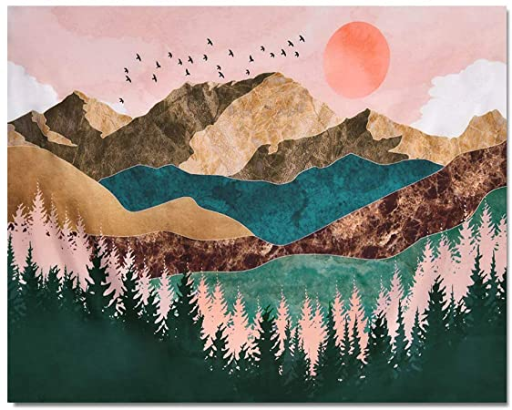 Amazon.com: TUMOVO Mountain Paint by Numbers for Adults Sunset Forest DIY Paint  Number Kits for Wall Decor Nordic Style Adult Paint by Number 16x20 inches  Nature Landscape Painting by Number(Frameless)