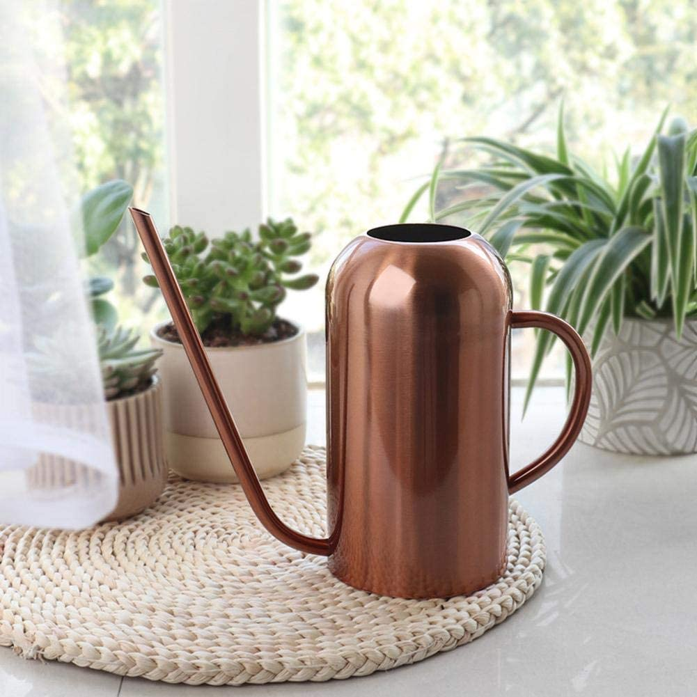 Watering Can with Long Spout 52 oz Copper Colored 1500 ml Stainless Steel Watering Can for Indoor Outdoor Plants