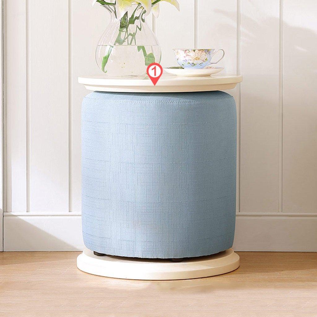 Brilliant firm Stoffa Morbida Piccola Sgabello Creativo Salotto Sgabello da caffè Sgabello Simpatico Divano Pigro con tavolino Spazio 39  39  46cm (Colore   blu)