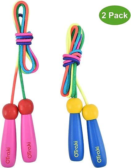 OTraki Cuerda Saltar 2 Pack 2M Skipping Rope Kids Ajustable con ...