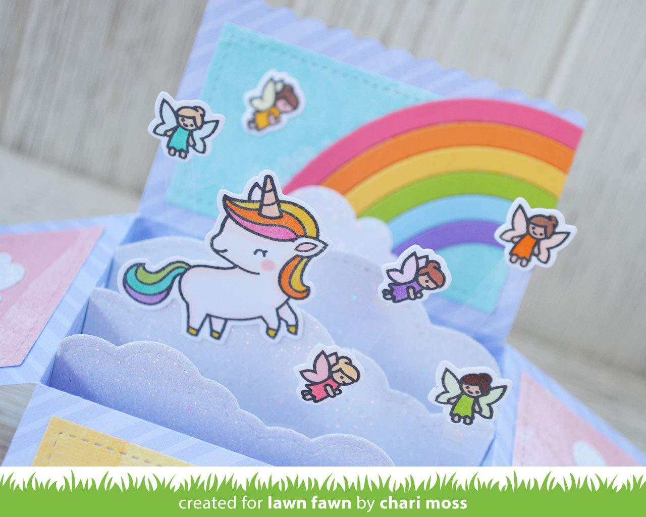 A Little Sparkle 2 Item Bundle Lawn Fawn Unicorn Stamps Set and Dies Set